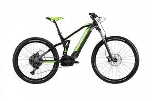 Whistle E-Mountainbike B-Rush All S 29 Zoll 12-Gang, schwarz/anthrazit/grün