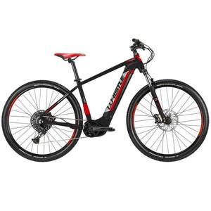 Whistle E-Mountainbike B-Race S 29 Zoll 12-Gang, schwarz/weiß/rot