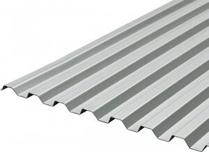 PVC Trapezplatte Metallic Grau, 2000 x 900 x 1,2 mm