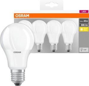 Osram LED Leuchtmittel Base CLa 40 E 27 - 8,5 W, 4er Pack