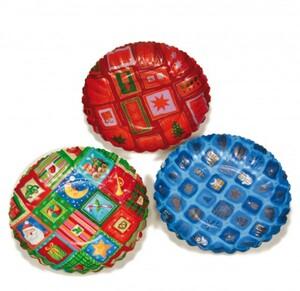 Riffelmacher Pappteller rund, 3 Stück ,  Ø 26 cm