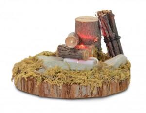 Riffelmacher Holz-Lagerfeuer an Baumstamm LED ,  Holz, 7,5 cm