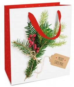 Braun & Company Geschenktragetasche Weihnachtsgruß ,  18 x 21  x 8 cm