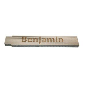 """Meterstab """"Benjamin"""", versch. Namen, 2m, weiß"""