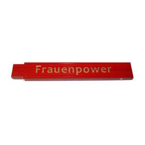 """Meterstab """"Frauenpower"""", 2m, rot"""