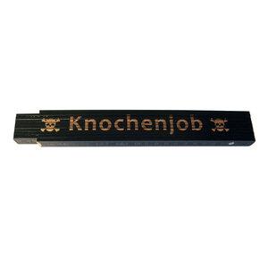 """Meterstab """"Knochenjob"""", 2m, schwarz"""