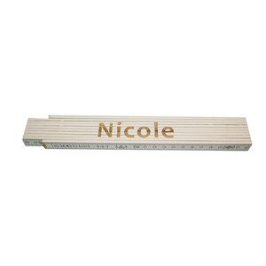 """Meterstab """"Nicole"""", 2m, weiß"""