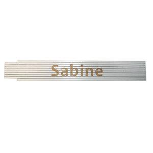 """Meterstab """"Sabine"""", 2m, weiß"""