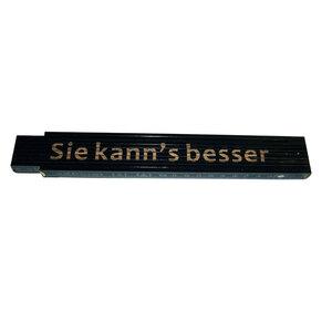 """Meterstab """"Sie kann s besser"""", 2m, schwarz"""