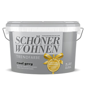 """Schöner Wohnen Farbe              Trendfarbe """"Cool Grey"""", matt, 2,5 L"""