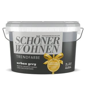 """Schöner Wohnen Farbe              Trendfarbe """"Urban Grey"""", matt, 2,5 L"""