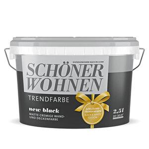"""Schöner Wohnen Farbe              Trendfarbe """"New Black"""", matt, 2,5 L"""