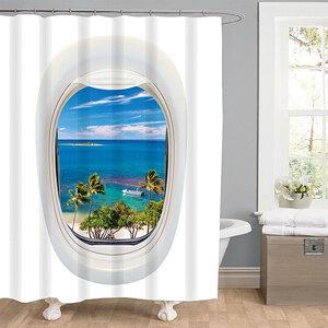 """Valblue              Duschvorhang """"Ocean"""", Textil"""