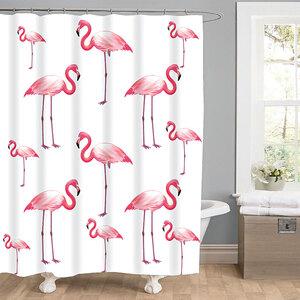 "Valblue              Duschvorhang ""Flamingo"", Textil"