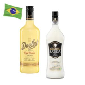 Batida de Coco Likör, Mangaroca Batida mit Rum oder Dooley's Egg Cream Liqueur