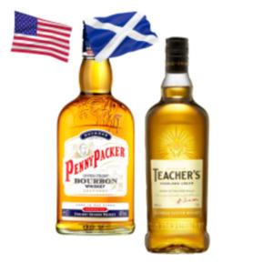 Teachers Highland Cream Scotch Whisky oder Penny Packer Bourbon Whiskey