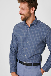 Businesshemd - Slim Fit - Cutaway - kariert