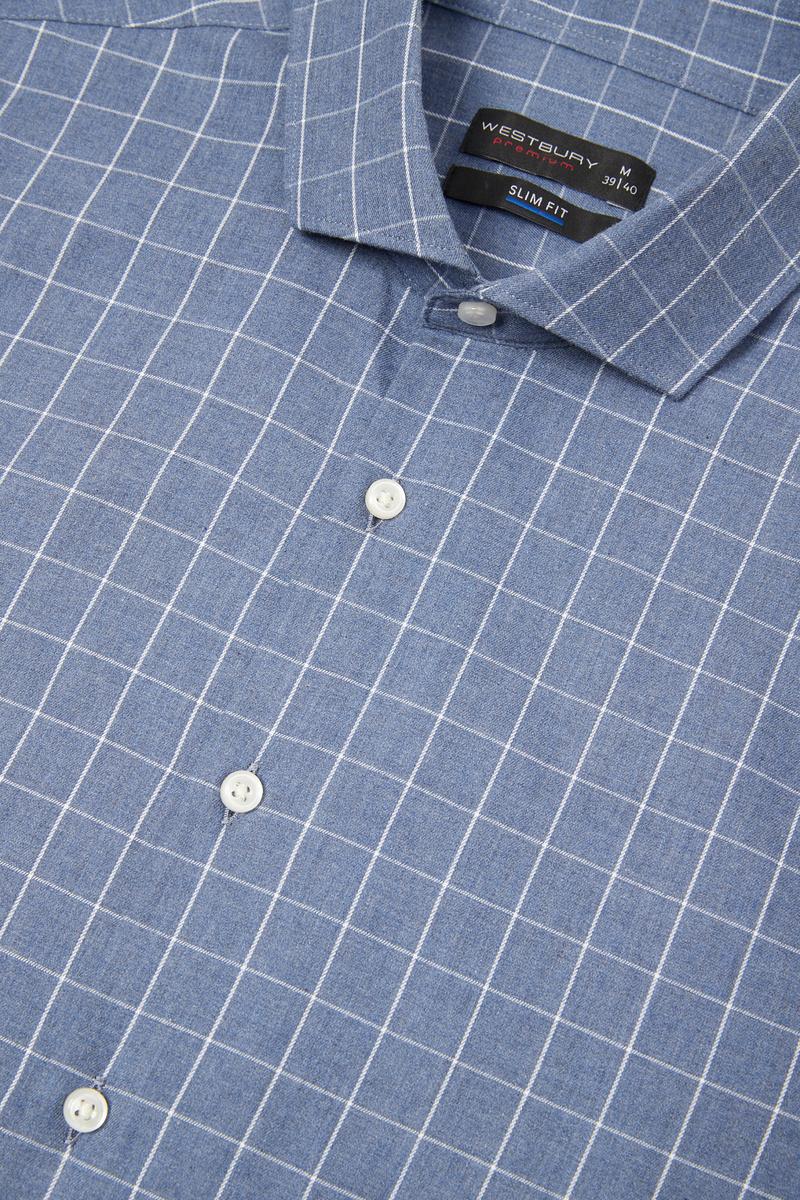 Bild 5 von Businesshemd - Slim Fit - Cutaway - kariert