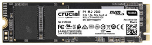 CRUCIAL P1, 1 TB SSD, intern
