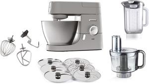 KENWOOD KVC3150S Chef Küchenmaschine inkl. 5 Zubehörteile, 1000 Watt in Silber