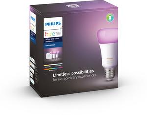 PHILIPS Hue White & Col. Amb. E27 Starter Set Bluetooth LED Leuchtmittel