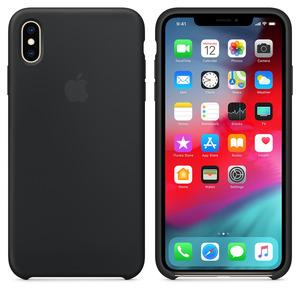 APPLE XS Max Silikon Case , Backcover, Apple, iPhone XS Max, Silikon, Schwarz