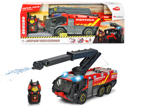 DICKIE TOYS RC Airport Fire Brigade R/C Spielzeugauto, Mehrfarbig/Rot