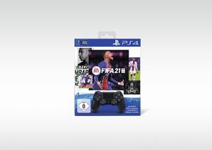 SONY Dualshock 4 Controller Black + Fifa 21 Voucher Voucher, Schwarz