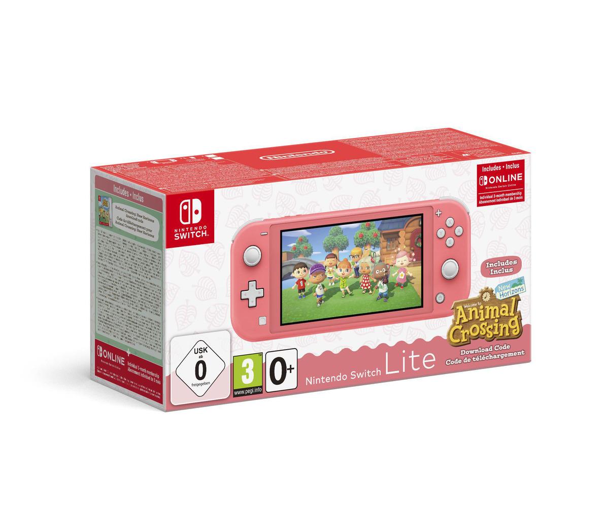 Bild 1 von NINTENDO Switch Lite Koralle inkl. Animal Crossing und 3 Monate Switch Online Mitgliedschaft Spielekonsole