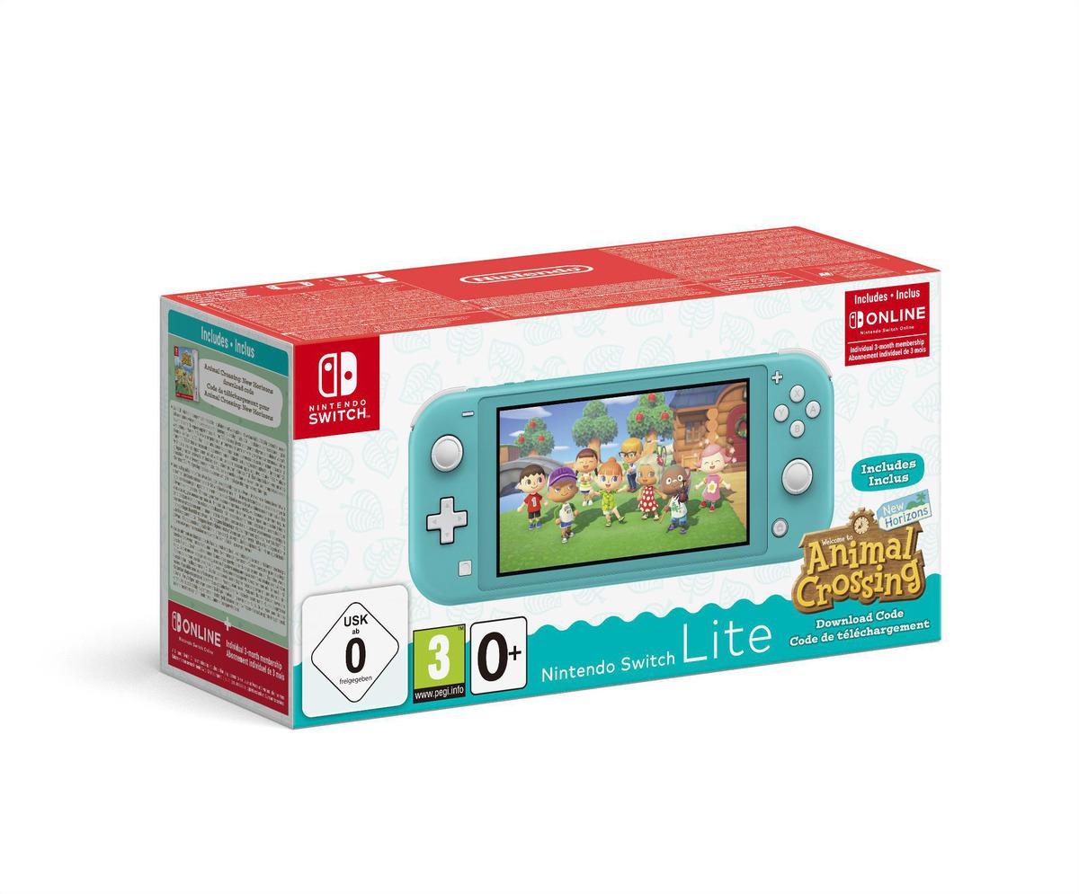 Bild 1 von NINTENDO Switch Lite Türkis inkl. Animal Crossing und 3 Monate Switch Online Mitgliedschaft Spielekonsole
