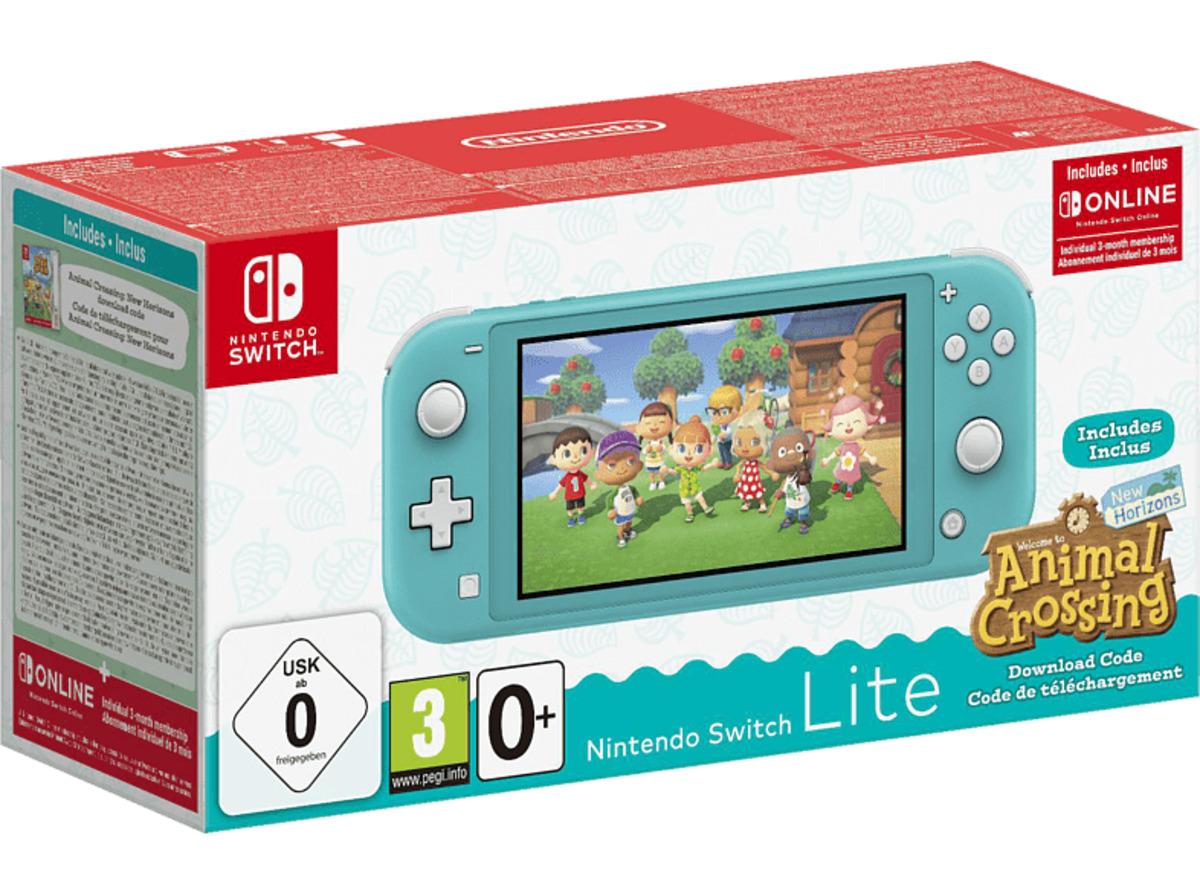 Bild 2 von NINTENDO Switch Lite Türkis inkl. Animal Crossing und 3 Monate Switch Online Mitgliedschaft Spielekonsole