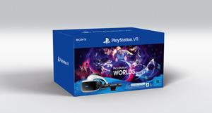 SONY PS VR Starter Pack inklusive PS VR-Headset / PS Camera / PS Camera-Adapter / VR Worlds Gutscheincode Gaming Zubehör, Schwarz