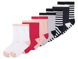 PEPPERTS® Mädchen Socken, mit Lycra, hoher Bio-Baumwollanteil, 7 Paar