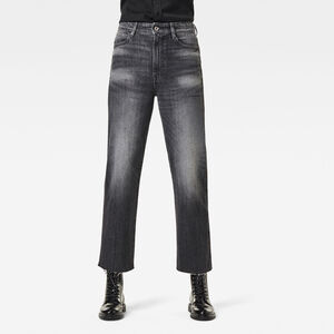 Tedie Ultra High Straight Raw Edge Ankle Jeans