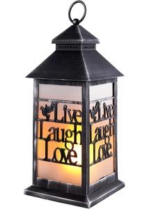 LED-Laterne mit Schriftzug Live, Laugh, Love