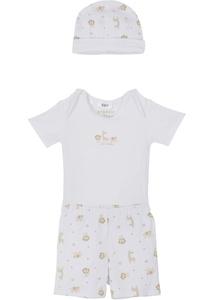 Baby Body + Hose + Mütze (3-tlg.) Bio-Baumwolle