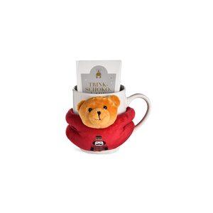 Geschenkset Tasse mit Teddy & Trinkschokolade