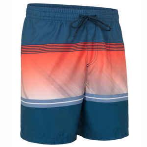 Boardshorts Surfen Division Herren orange mit Streifen