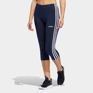 Leggings 3/4 Essentials 3 Streifen Baumwolle Damen marineblau
