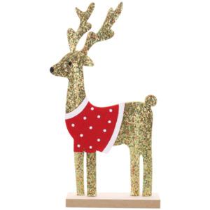 Weihnachtsfigur mit Glitzer