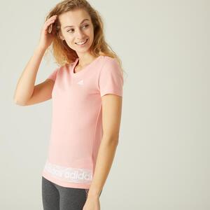 T-Shirt Slim Damen rosa