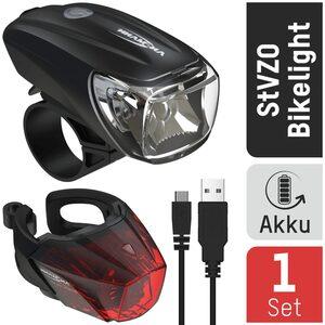 ANSMANN® Fahrradbeleuchtung »Fahrradlicht Set Akku StVZO zugelassen, Front- und Rücklicht«