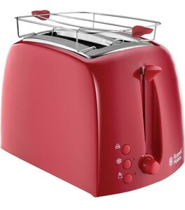 RUSSELL HOBBS Toaster Russell Hobbs Textures Toaster 2-Scheiben 850W Sandwich Brötchen-Aufsatz Auftau, 2 lange Schlitze, für 2 Scheiben, 850 W