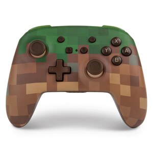 Nintendo Switch Enhanced Wireless Controller - Minecraft Grass Block