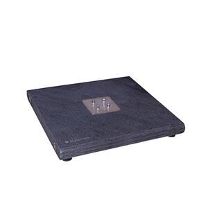 XXXLutz Sonnenschirmständer granit anthrazit , Granitgrundplatte Knirps , Stein , 80x8x80 cm , Naturstein,Granit , Haltegriff , 000462015230