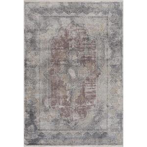 Dieter Knoll Vintage-teppich 200/290 cm grau, schwarz , Castello Mt095 , Textil , Abstraktes , 200x290 cm , Hochflor , für Fußbodenheizung geeignet, in verschiedenen Größen erhältlich, UV-bestä