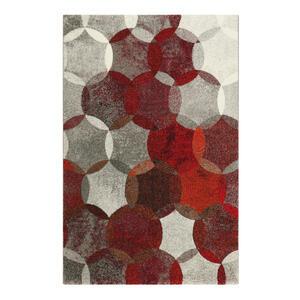 Esprit Webteppich 200/290 cm rot, dunkelrot, weinrot, rotbraun , Modernina , Textil , Graphik , 200x290 cm , für Fußbodenheizung geeignet, in verschiedenen Größen erhältlich, Fasern thermofixier