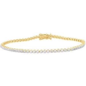 Vandenberg Damen Tennis Armband, 585er Gelbgold mit 84 Diamanten