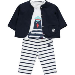 Kanz Anzug-Set, 3-teilig, Baumwolle, für Babys