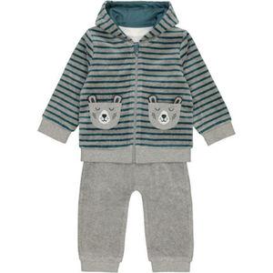 MANGUUN Anzug-Set, 3-teilig, Nicki-Stoff, für Baby Jungen